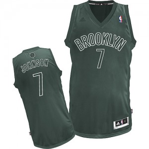Maillot NBA Gris Joe Johnson #7 Brooklyn Nets Big Color Fashion Swingman Homme Adidas