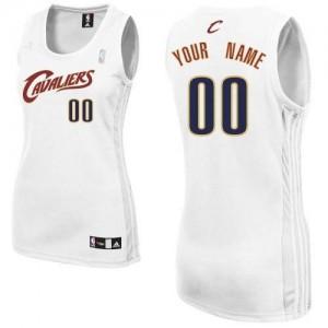 Cleveland Cavaliers Personnalisé Adidas Home Blanc Maillot d'équipe de NBA magasin d'usine - Authentic pour Femme