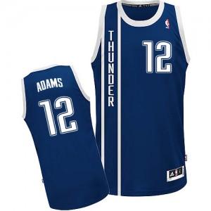 Maillot NBA Bleu marin Steven Adams #12 Oklahoma City Thunder Alternate Authentic Homme Adidas