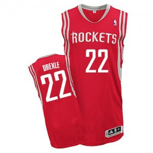Maillot NBA Authentic Clyde Drexler #22 Houston Rockets Road Rouge - Homme