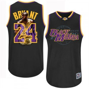 Maillot NBA Noir Kobe Bryant #24 Los Angeles Lakers Notorious Authentic Homme Adidas