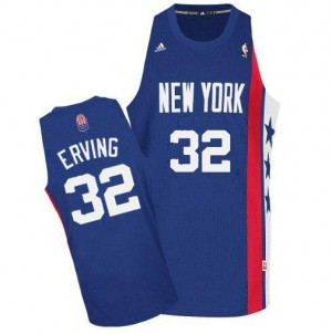 Brooklyn Nets Julius Erving #32 ABA Retro Throwback Swingman Maillot d'équipe de NBA - Bleu pour Homme