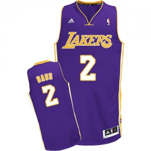 Maillot Swingman Los Angeles Lakers NBA Road Violet - #2 Brandon Bass - Homme