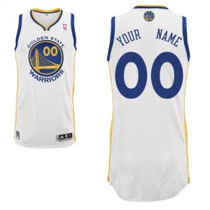 Maillot NBA Authentic Personnalisé Golden State Warriors Home Blanc - Enfants