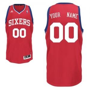 Maillot NBA Philadelphia 76ers Personnalisé Swingman Rouge Adidas Road - Homme