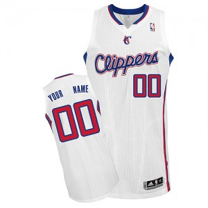 Maillot Adidas Blanc Home Los Angeles Clippers - Authentic Personnalisé - Homme
