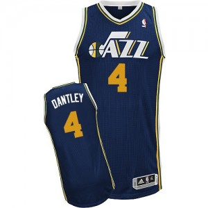 Maillot NBA Bleu marin Adrian Dantley #4 Utah Jazz Road Authentic Homme Adidas