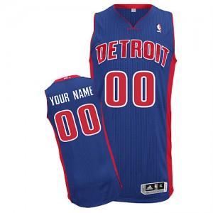 Maillot Adidas Bleu royal Road Detroit Pistons - Authentic Personnalisé - Homme