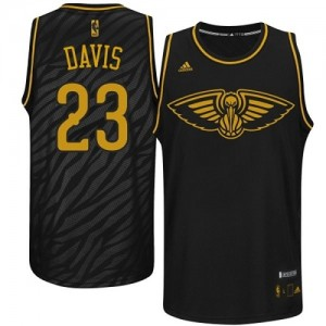 Maillot NBA Noir Anthony Davis #23 New Orleans Pelicans Precious Metals Fashion Authentic Homme Adidas