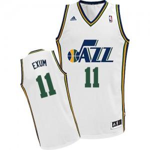 Utah Jazz #11 Adidas Home Blanc Swingman Maillot d'équipe de NBA Peu co?teux - Dante Exum pour Homme
