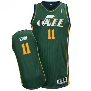 Utah Jazz Dante Exum #11 Alternate Authentic Maillot d'équipe de NBA - Vert pour Homme