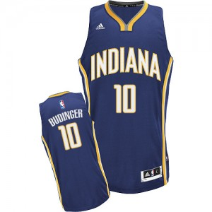 Maillot NBA Indiana Pacers #10 Chase Budinger Bleu marin Adidas Swingman Road - Homme