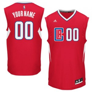 Maillot NBA Rouge Authentic Personnalisé Los Angeles Clippers Road Femme Adidas