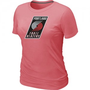T-shirt principal de logo Portland Trail Blazers NBA Big & Tall Rose - Femme