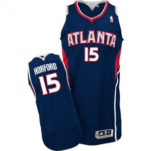 Maillot NBA Atlanta Hawks #15 Al Horford Bleu marin Adidas Authentic Road - Homme