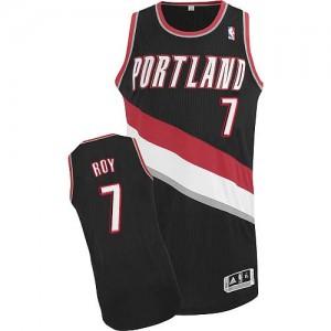 Portland Trail Blazers #7 Adidas Road Noir Authentic Maillot d'équipe de NBA Magasin d'usine - Brandon Roy pour Homme
