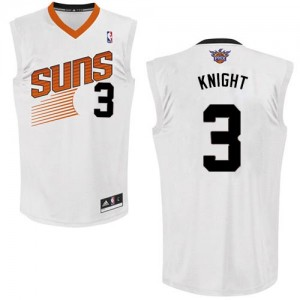 Maillot Authentic Phoenix Suns NBA Home Blanc - #3 Brandon Knight - Homme