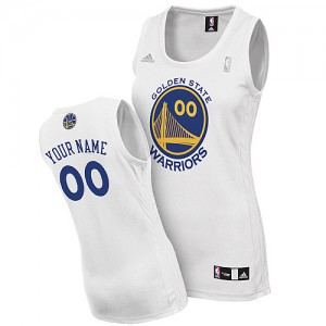 Maillot Adidas Blanc Home Golden State Warriors - Swingman Personnalisé - Femme