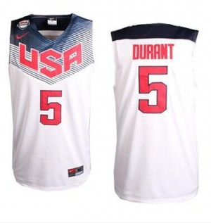 Maillot Nike Blanc 2014 Dream Team Swingman Team USA - Kevin Durant #5 - Homme