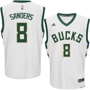 Maillot Swingman Milwaukee Bucks NBA Home Blanc - #8 Larry Sanders - Homme