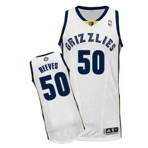 Maillot Authentic Memphis Grizzlies NBA Home Blanc - #50 Bryant Reeves - Homme