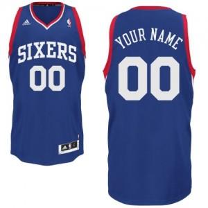 Maillot NBA Swingman Personnalisé Philadelphia 76ers Alternate Bleu royal - Enfants