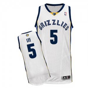 Maillot NBA Authentic Courtney Lee #5 Memphis Grizzlies Home Blanc - Homme