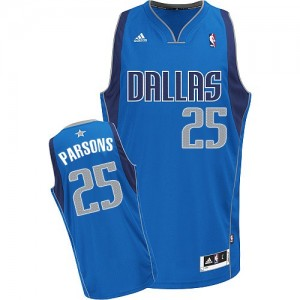 Dallas Mavericks Chandler Parsons #25 Road Swingman Maillot d'équipe de NBA - Bleu royal pour Homme