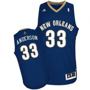 Maillot NBA Bleu marin Ryan Anderson #33 New Orleans Pelicans Road Swingman Homme Adidas