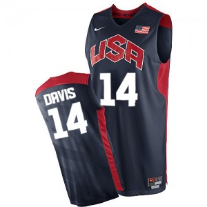 Maillots de basket Swingman Team USA NBA 2012 Olympics Bleu marin - #14 Anthony Davis - Homme