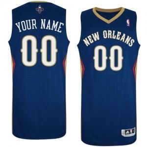 New Orleans Pelicans Personnalisé Adidas Road Bleu marin Maillot d'équipe de NBA boutique en ligne - Swingman pour Femme