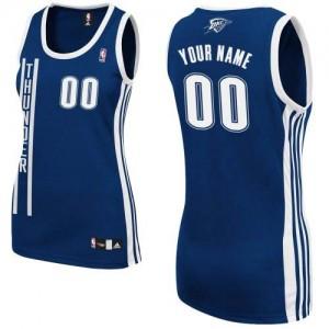 Maillot Adidas Bleu marin Alternate Oklahoma City Thunder - Authentic Personnalisé - Femme