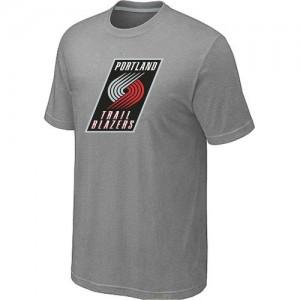 T-shirt principal de logo Portland Trail Blazers NBA Big & Tall Gris - Homme