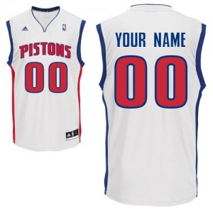 Detroit Pistons Personnalisé Adidas Home Blanc Maillot d'équipe de NBA Expédition rapide - Swingman pour Enfants