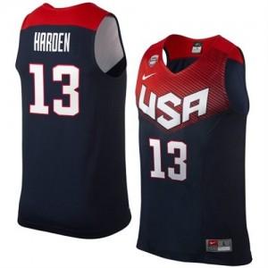 Maillot NBA Team USA #13 James Harden Bleu marin Nike Authentic 2014 Dream Team - Homme