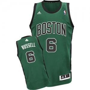 Boston Celtics #6 Adidas Alternate Vert (No. noir) Swingman Maillot d'équipe de NBA pour pas cher - Bill Russell pour Homme