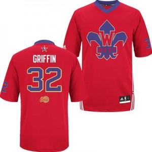 Maillot NBA Los Angeles Clippers #32 Blake Griffin Rouge Adidas Authentic 2014 All Star - Homme