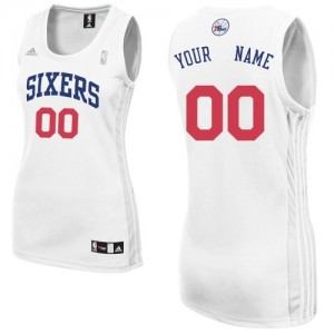 Philadelphia 76ers Swingman Personnalisé Home Maillot d'équipe de NBA - Blanc pour Femme