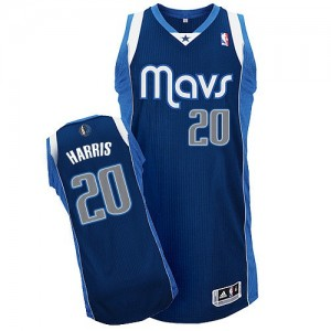 Dallas Mavericks Devin Harris #20 Alternate Authentic Maillot d'équipe de NBA - Bleu marin pour Homme
