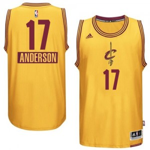 Maillot Adidas Or 2014-15 Christmas Day Authentic Cleveland Cavaliers - Anderson Varejao #17 - Homme