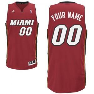 Maillot NBA Miami Heat Personnalisé Swingman Rouge Adidas Alternate - Homme