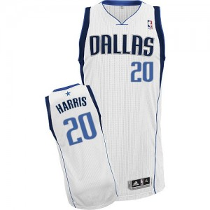 Maillot Adidas Blanc Home Authentic Dallas Mavericks - Devin Harris #20 - Homme