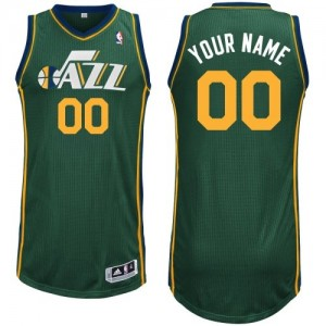 Maillot Adidas Vert Alternate Utah Jazz - Authentic Personnalisé - Enfants