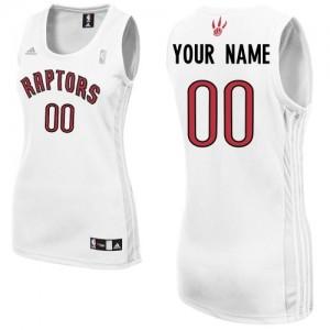 Toronto Raptors Swingman Personnalisé Home Maillot d'équipe de NBA - Blanc pour Femme