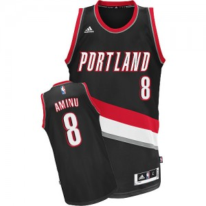 Maillot NBA Noir Al-Farouq Aminu #8 Portland Trail Blazers Road Swingman Homme Adidas