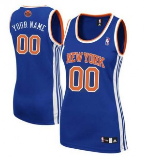 Maillot NBA New York Knicks Personnalisé Authentic Bleu royal Adidas Road - Femme