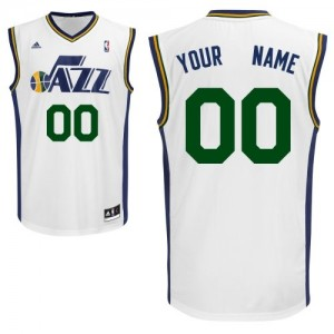 Maillot Adidas Blanc Home Utah Jazz - Swingman Personnalisé - Homme