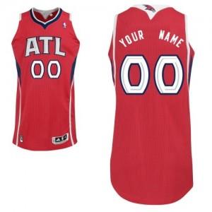 Maillot NBA Authentic Personnalisé Atlanta Hawks Alternate Rouge - Homme