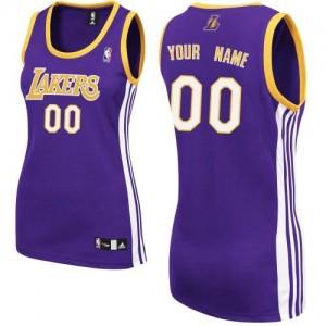Maillot NBA Los Angeles Lakers Personnalisé Authentic Violet Adidas Road - Femme