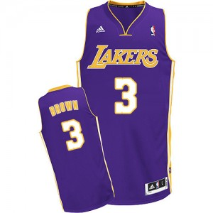 Maillot Adidas Violet Road Swingman Los Angeles Lakers - Anthony Brown #3 - Homme